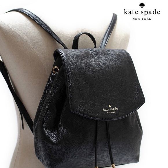 39% off kate spade Handbags - Kate Spade Black Leather Backpack ...